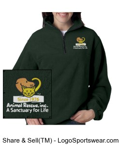 ARI fleece pullover Design Zoom